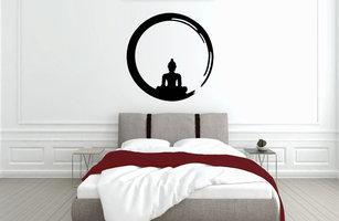 Muursticker slaapkamer boeddha cirkel