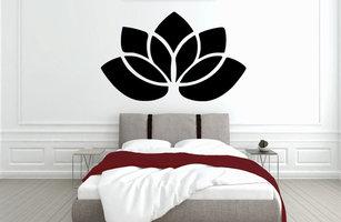 Muursticker slaapkamer lotus
