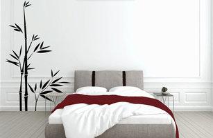 Muursticker slaapkamer bamboe