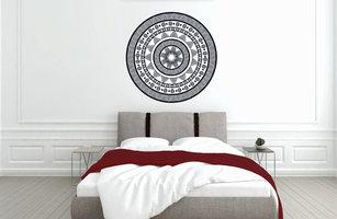 Muursticker slaapkamer mandala
