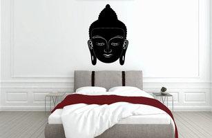 Muursticker slaapkamer boeddha hoofd Murasaki