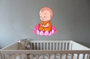 Muursticker babykamer baby boeddha zen kleur