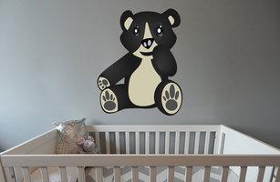 Muursticker babykamer beertje