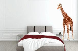 Muursticker slaapkamer giraffe