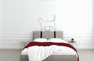 Muursticker slaapkamer kat