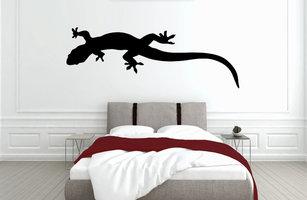 Muursticker slaapkamer gekko