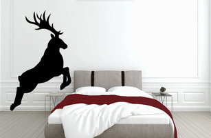 Muursticker slaapkamer hert