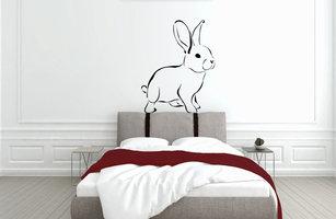 Muursticker slaapkamer konijn