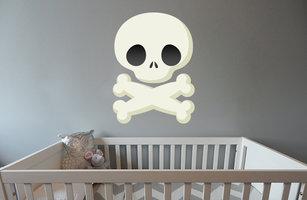 Muursticker babykamer doodshoofd