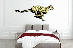 Muursticker slaapkamer cheetah