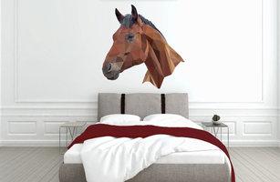 Muursticker slaapkamer paard abstract
