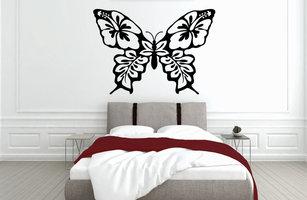 Muursticker slaapkamer hawaii butterfly