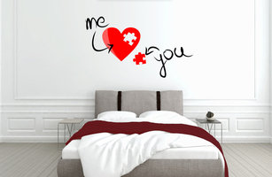 Muursticker slaapkamer me and you
