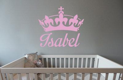 Babykamer Behang Stickers : Muursticker naam babykamer muurstickers webshop