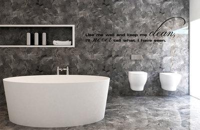Muursticker voor in de badkamer of toilet - muurstickers-webshop