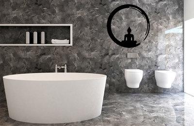 Boeddha muurstickers voor in de badkamer - muurstickers-webshop